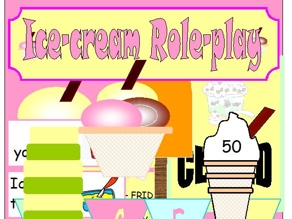Ice Cream Shop Ice cream Parlour Role play Preschool Early Years KS1 KS2  Summer Seaside