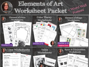 Elements of Art Worksheet Packet