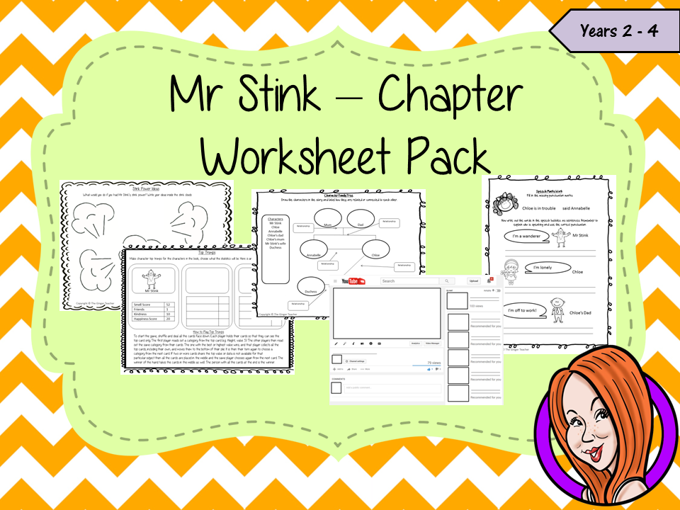Mr Stink Worksheet Pack