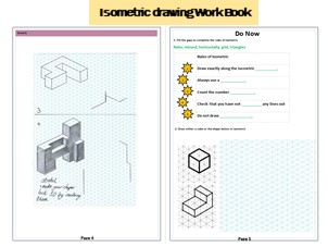 Introduction to isometric drawing booklet 2 lessons
