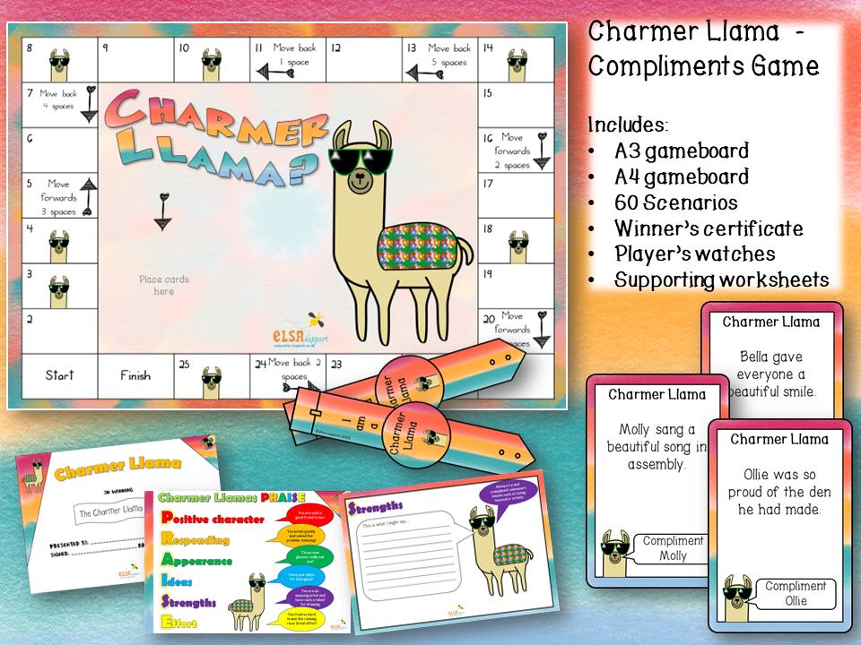 Compliments game - Charmer Llama