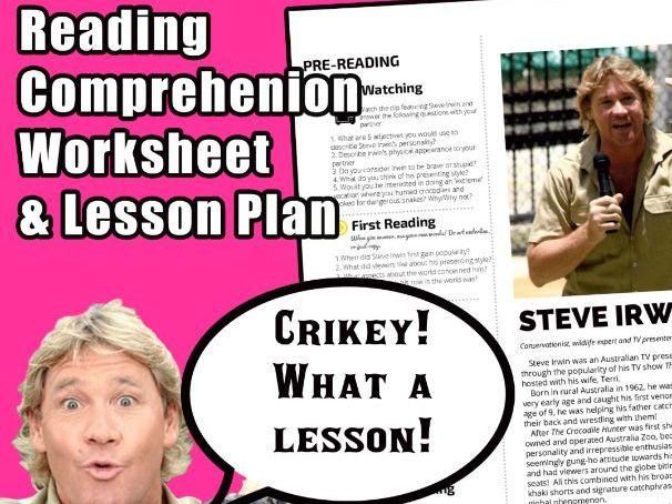 Steve Irwin - Reading Worksheet