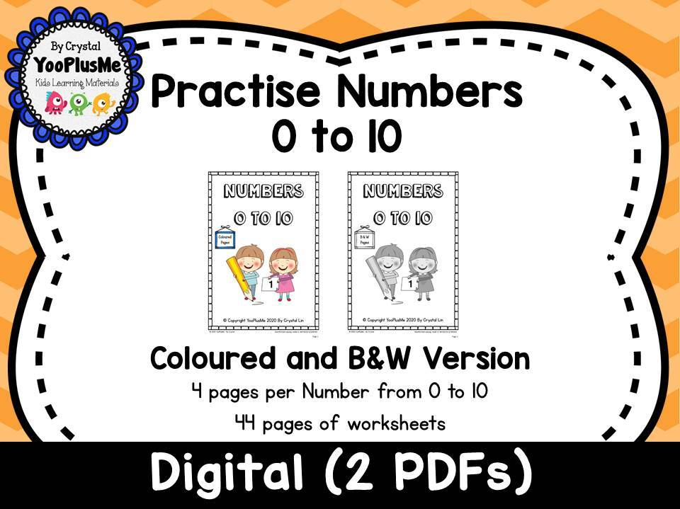 Numbers 0 to 10 Worksheets