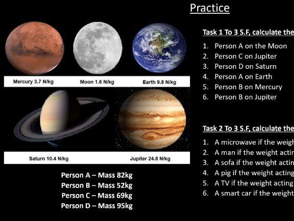 GCSE Physics (4.5.1.3) Forces - Gravity (AQA)