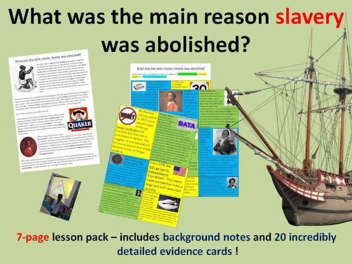Abolition of slavery - 7 page lesson pack