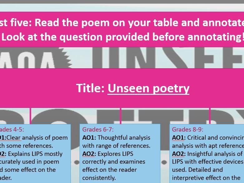 AQA Unseen poetry - NEW!