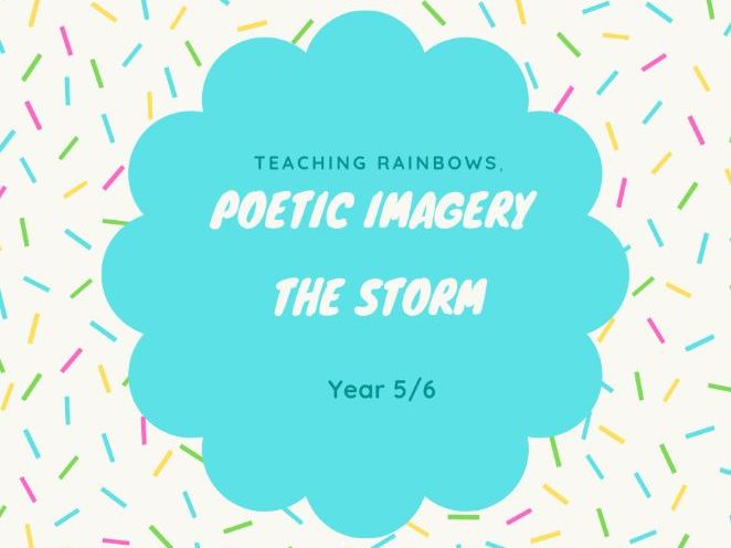 Lesson Plan - Poetry - The Storm Y5/6