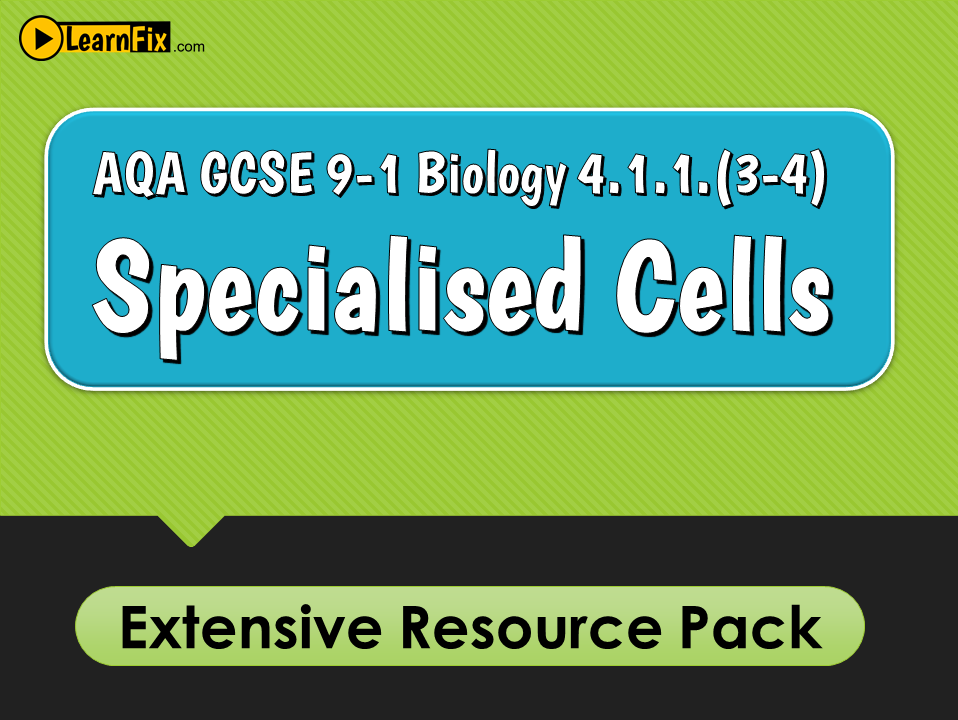 AQA GCSE Biology 9-1 Specialised Cells - Resource Pack