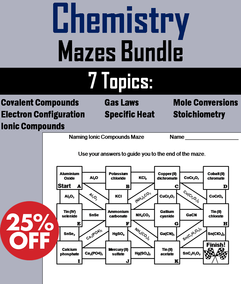 Chemistry: Science Maze Bundle