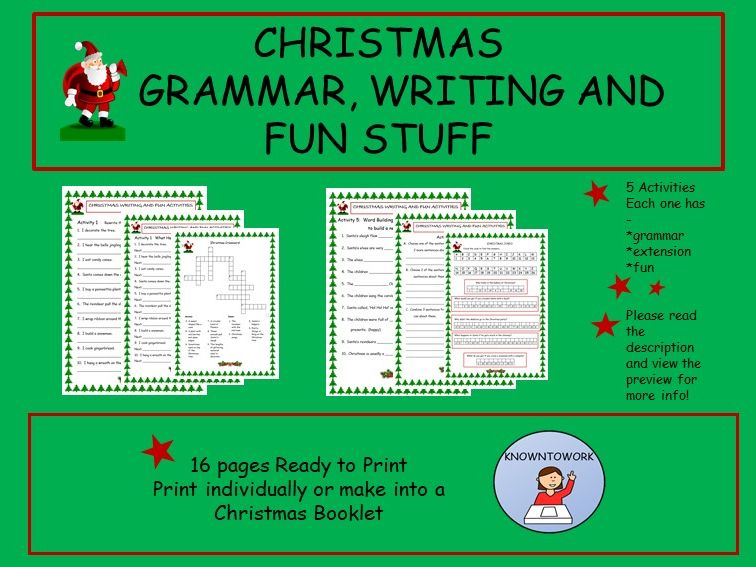 Christmas English Worksheets-Perfect for Home Learning