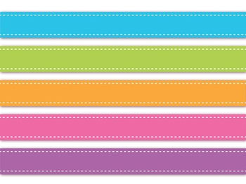 Border Ribbons Set, 45 Colors, for Commercial Use