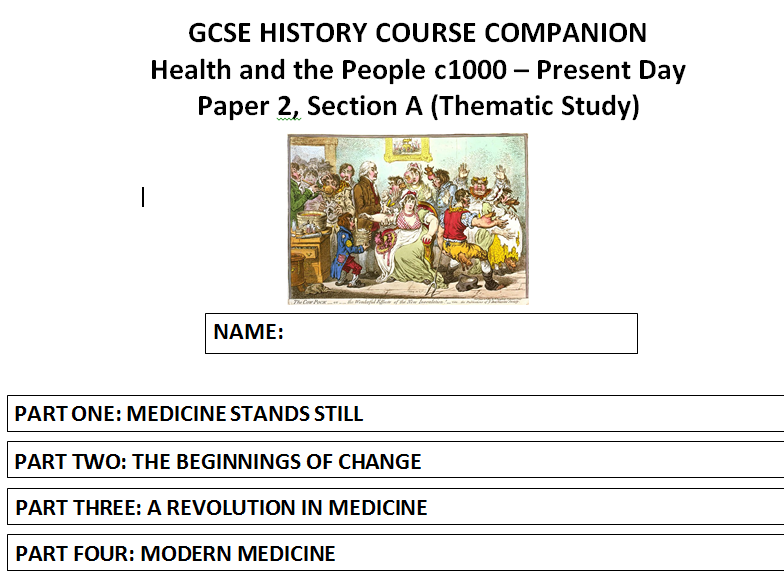 AQA (9-1) GCSE History - Health and the People - Lessons 1 - 20