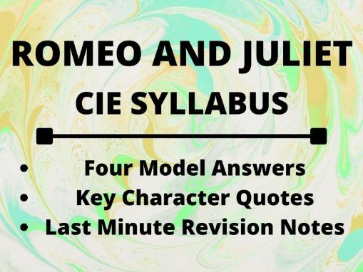 Romeo and Juliet: Model Answers & Revision Notes (CIE Syllabus)