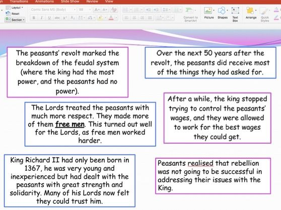 What were the long term impacts of the Peasant's Revolt?