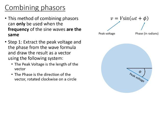BTec Engineering - Combining Sinusoidal Waveforms (PowerPoint)