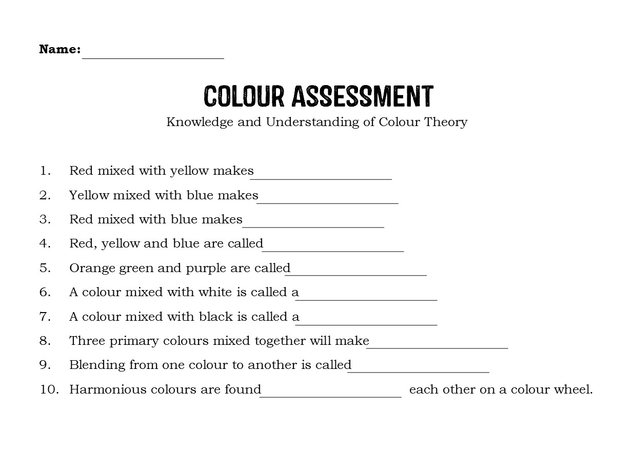Colour Theory Assessment