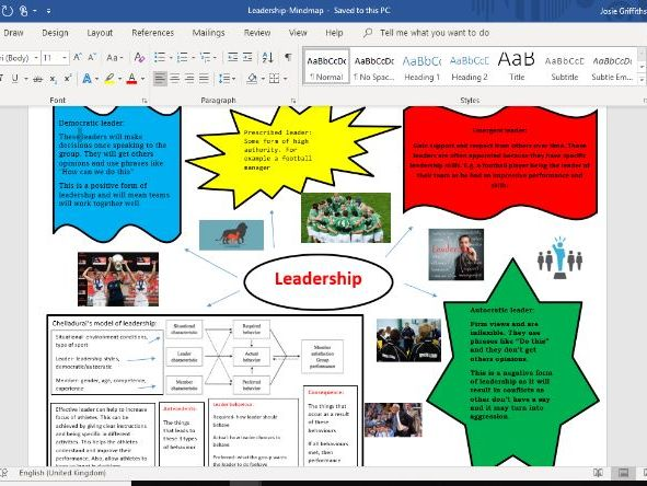 BTEC Sport and Exercise Science revision mindmaps 4 documents