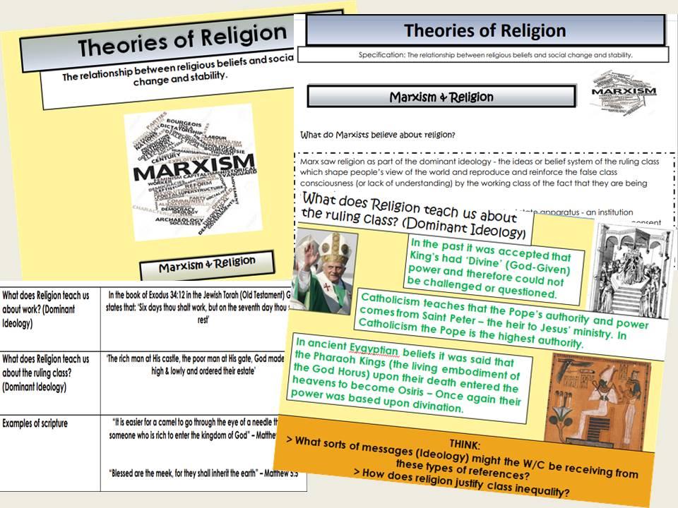 AQA Sociology - Year 2 - Beliefs in Society - Marxism & Religion