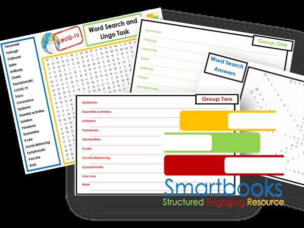 Functional Skills - English - COVID 19 Lingo Word Search & Task