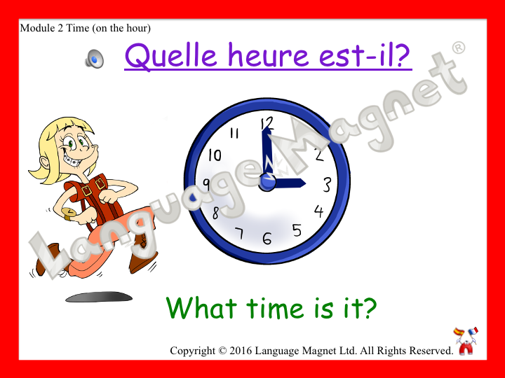 French Time (on the hour)