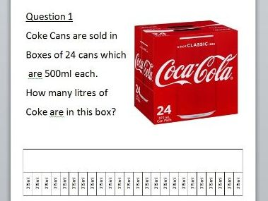 YEAR 4/5/6 CAPACITY WORD PROBLEMS WITH BAR MODEL REPRESENTATION