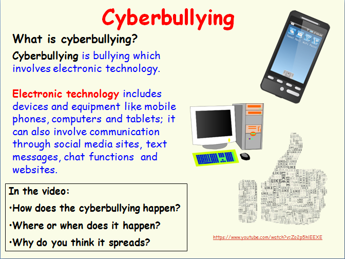 Cyberbullying assembly and lesson for internet safety in KS1 and KS2