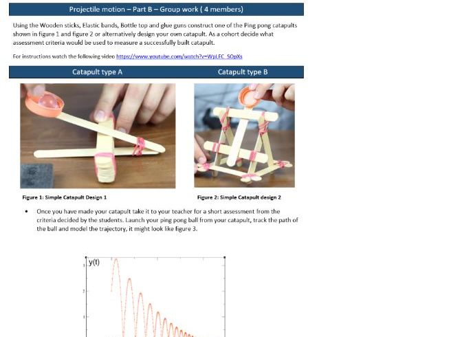 Modeling Projectile motion  with Quadratics and Geometric series - PART B