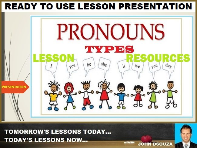 PRONOUN TYPES: READY TO USE LESSON PRESENTATION