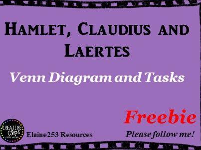 Hamlet, Claudius and Laertes Venn Diagram and Tasks