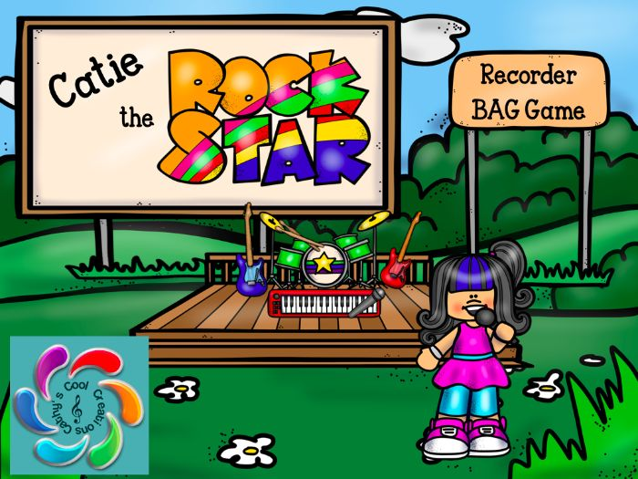 Catie the Rock Star! Interactive Recorder BAG Game