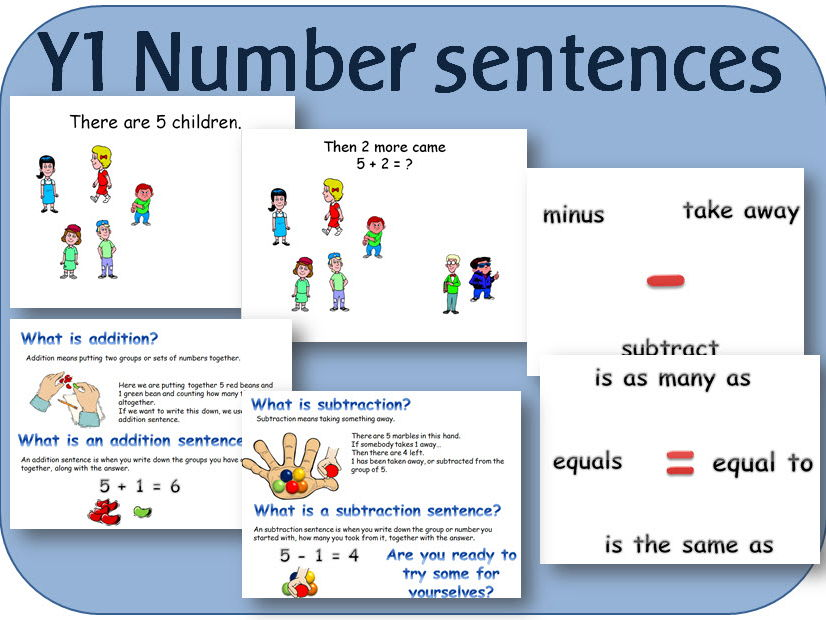 Year 1 Maths Number: Addition and subtraction - introduction to number sentences
