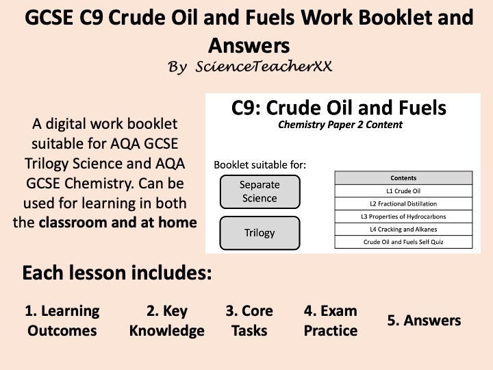 C9 Crude Oil Work Booklet and Answers