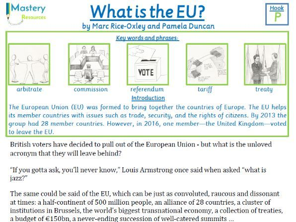 BREXIT - What is the EU? Guardian Newspaper Comprehension KS2