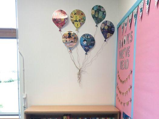 KS2 Book Balloons - Reading Corner Decoration