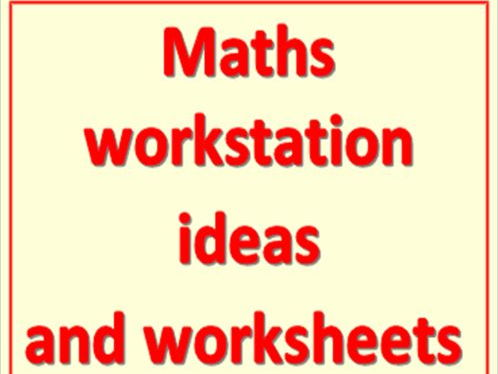 Pre entry maths work station or practice folder worksheets and resources