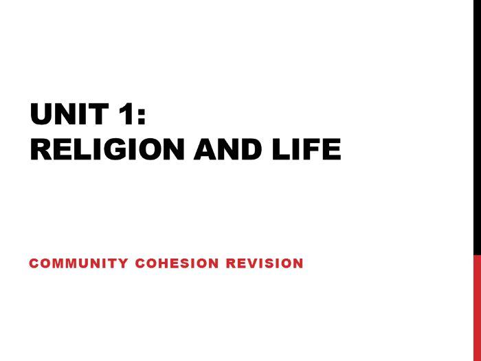 Edexcel Religious Studies Unit 1 Community Cohesion (2009 spec)