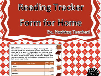Reading Tracker Form for Home Template