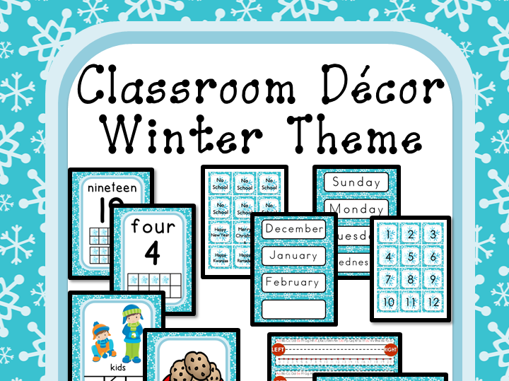 Classroom Decor Editable - Winter Theme