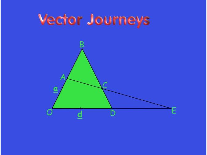 Ks4 Vector Journeys with Answers