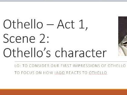 Othello - Act 1, Sc 2 A Level English Lit