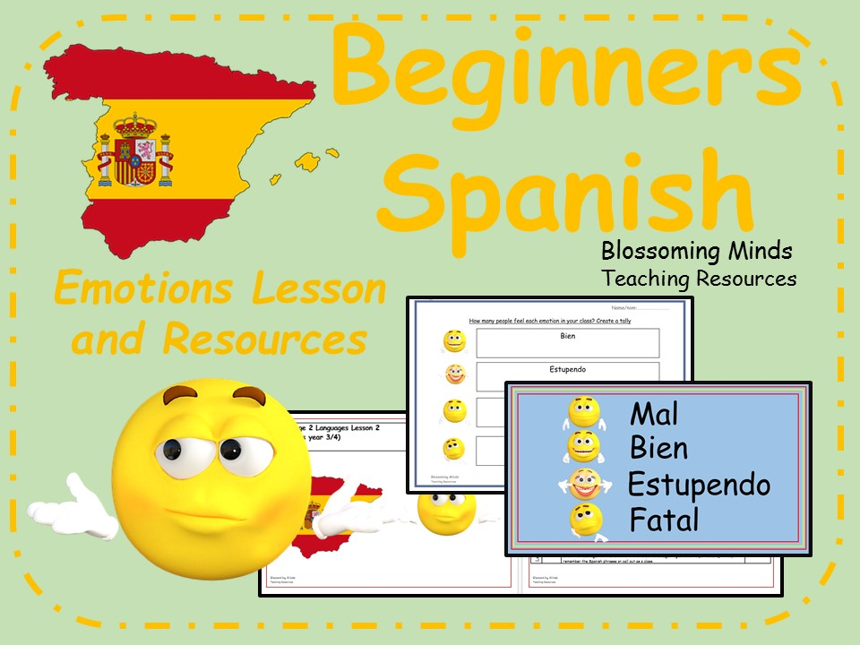 Spanish lesson and resources - KS2 or KS3 beginners - Emotions and feelings