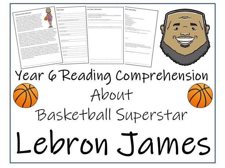 LeBron James Reading Comprehension Activity