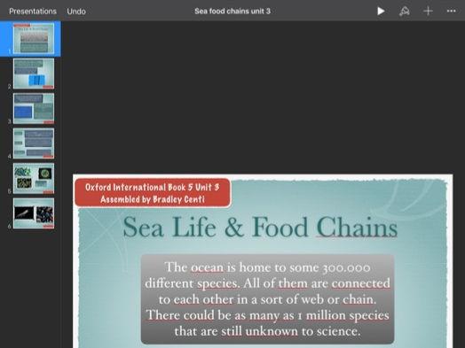 English: Oxford International Chapter 3 Sea Life