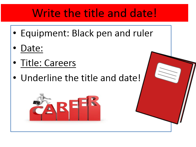 Careers Lesson - Power Point Lesson and Activities with Worksheets-Y7