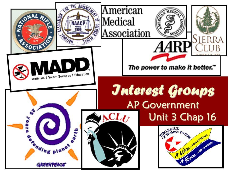 Edexcel Politics USA Interest Groups