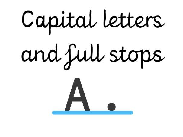Capital letter & full stop reminder stickers