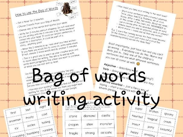 Get Writing! Daily writing task Bag of Words Fun Key Stage 2 Ages 7-11+