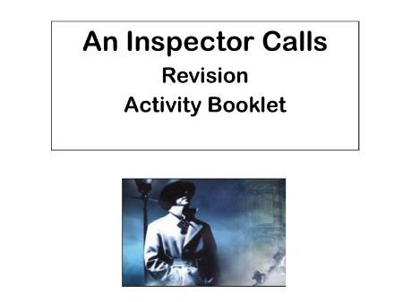 AQA An Inspector Calls:  Revision Activity Booklet