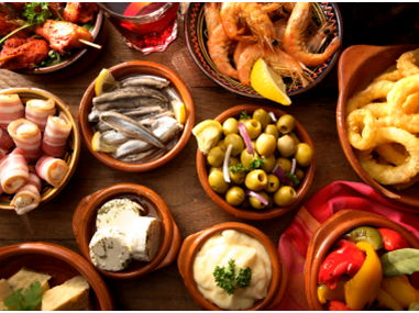 La comida  y los verbos de la comida