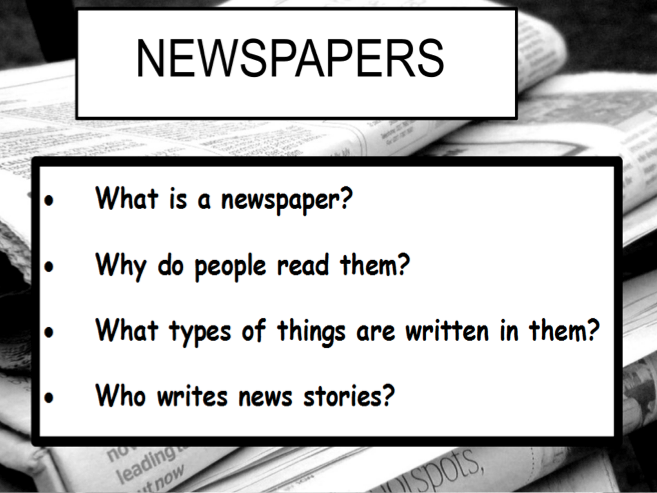 Newspapers year 4